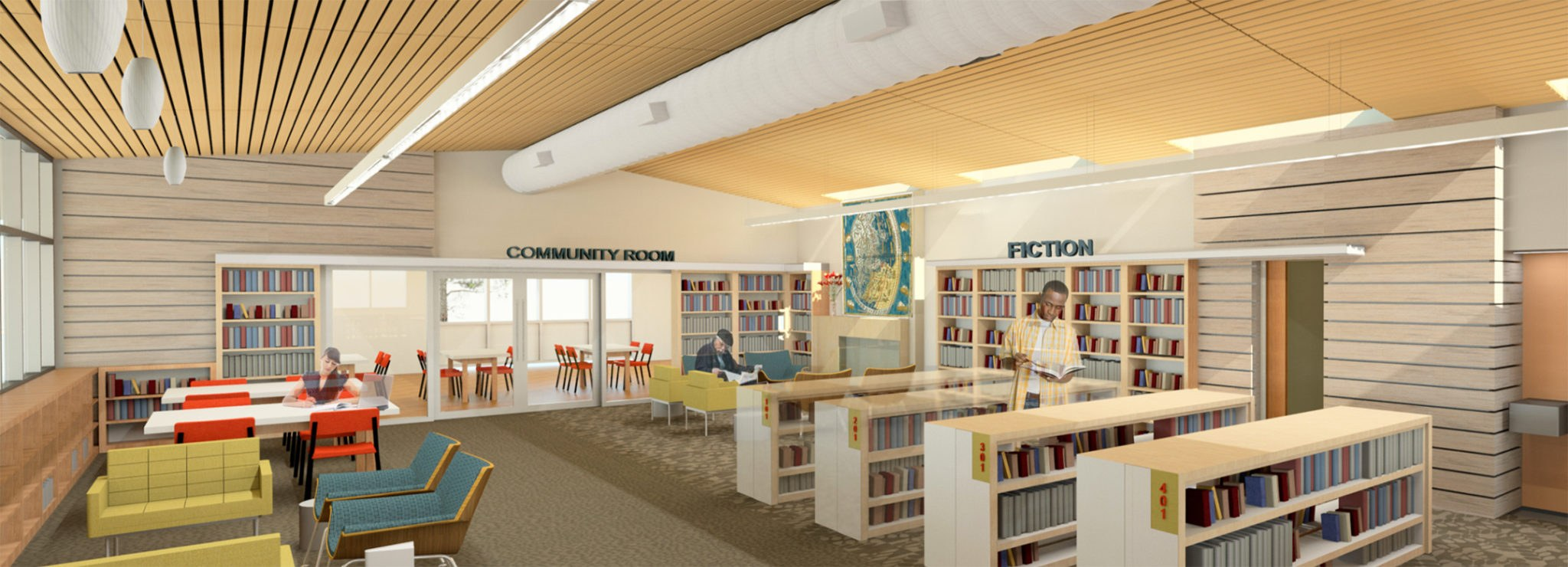 Mission Library Renovation Interior